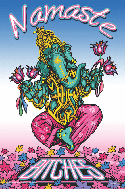 "Namaste Bitches by Ali Chris Mini Poster 11"" x 17"""