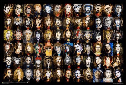 "Music Legends by William K Stidman Poster 36"" x 24"""