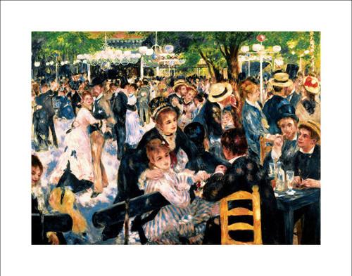 """Le Moulin de la Gallette by Renoir Poster - 28"""" x 22"""""""