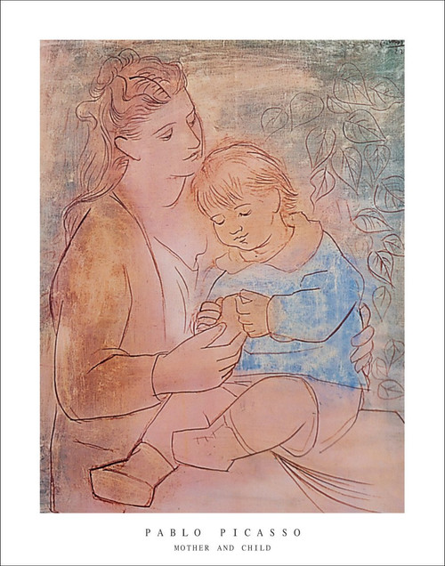 "Mother and Child by Picasso Poster - 22"" x 28"""
