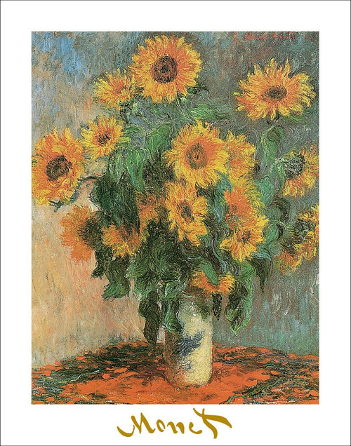 "Sunflowers by Monet 1881 Poster - 22"" x 28"""