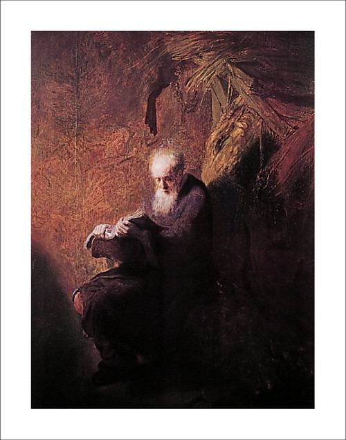 "Philosopher Reading by Rembrandt Poster - 22"" x 28"""