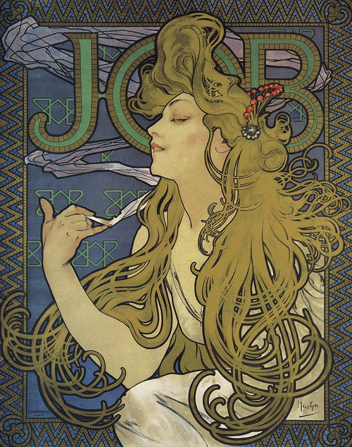 "Job by Mucha 1897 Mini Poster - 11"" x 14"""