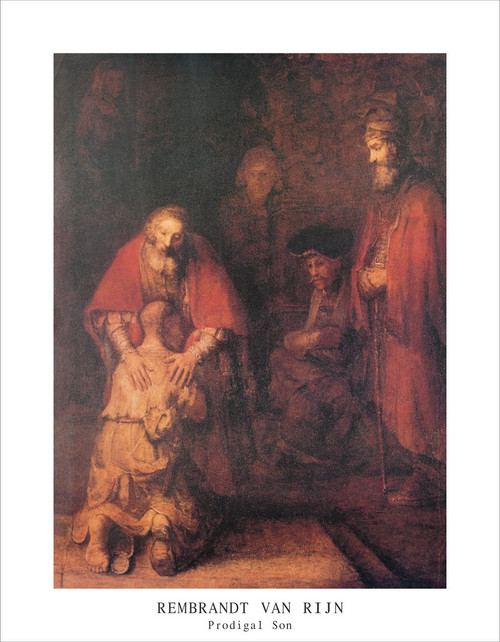 "Prodigal Son by Rembrandt Mini Poster - 11"" x 14"""
