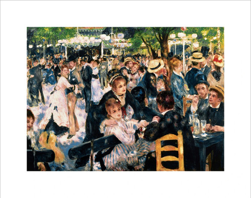 "Le Moulin de la Galette by Renoir Mini Poster - 14"" x 11"""