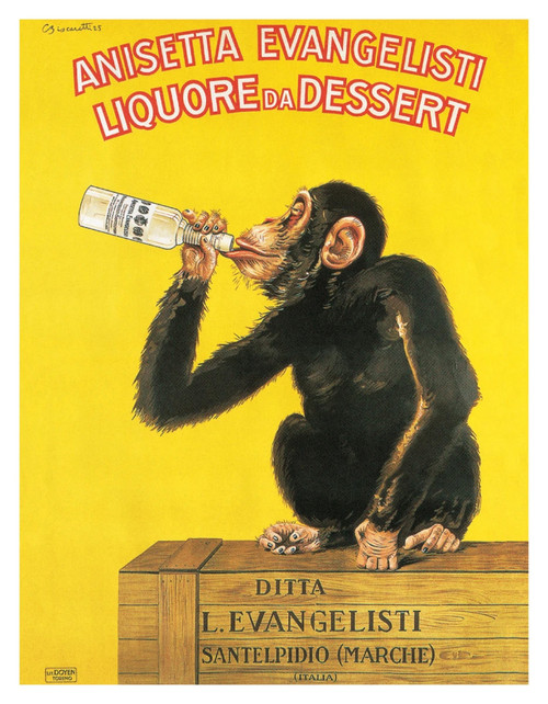 "Liquore Da Dessert by Carlo Biscaretti Vintage Advertising Mini Poster - 11"" x 14"""