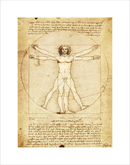 "Vitruvian Man by Da Vinci Mini Poster - 11"" x 14"""