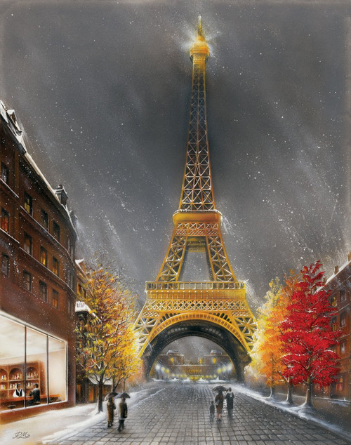 "La Tour Eiffel by Magrini Mini Poster - 11"" x 14"""