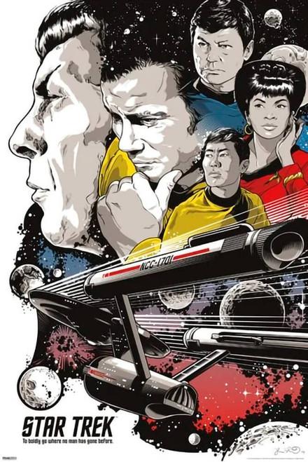"""Star Trek - To Boldly Go Poster 24"""" x 36"""""""
