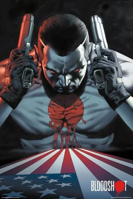 "Valiant - Bloodshot - America Flag Poster 24"" x 36"""