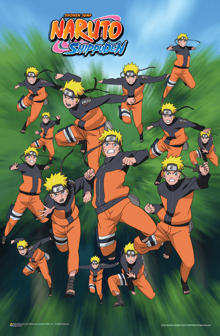 "Naruto - Shadow Clone Techniques Mini Poster 11"" x 17"""
