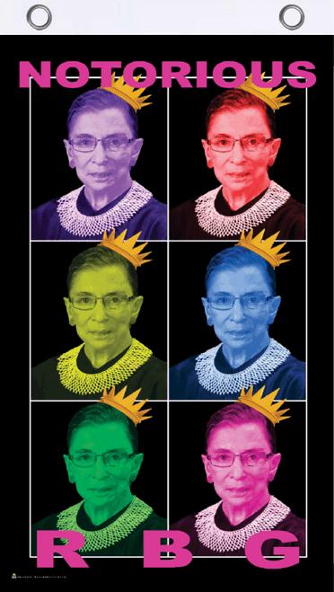 Notorious RBG  (Ruth Bader Ginsberg) Popart Fly Flag