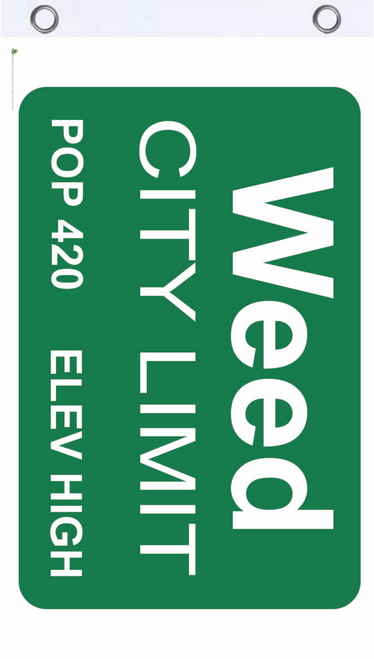 Weed City Limits Fly Flag