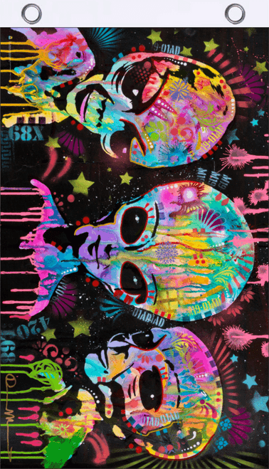 Aliens by Dean Russo Blacklight Reactive Fly Flag 3' x 5'