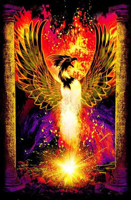 "Phoenix Rebirth Non-Flocked Blacklight Poster 24"" x 36"""