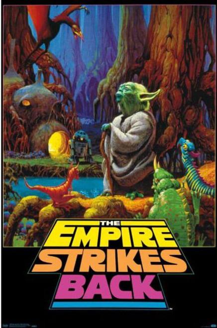 "Star Wars - Empire Strikes Back Neon Poster - 22.375"" x 34"""