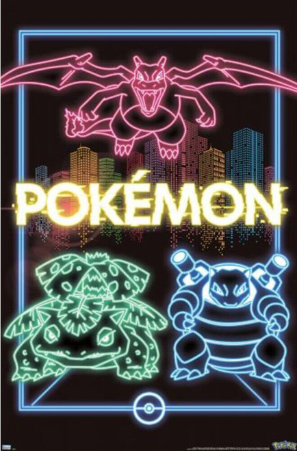 "Pokemon - Group Neon Poster - 22.375"" x 34"""
