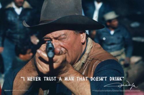 "John Wayne Take Aim Mini Poster 17"" x 11"""
