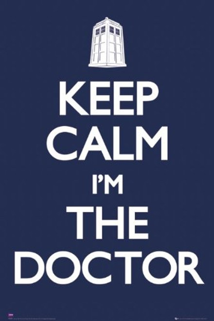 """Doctor Who - TV Show Poster (Keep Calm I'm The Doctor) (Size: 24"""" x 36"""")"""
