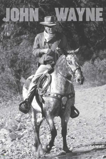 """John Wayne Riding Poster 24"""" x 36"""""""