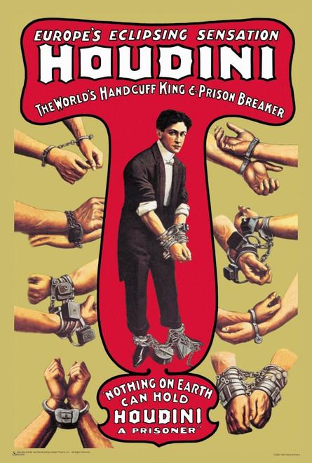 """Houdini - The World's Handcuff King and Prison Breaker Mini Poster 12"""" x 18"""""""
