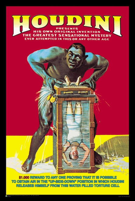 """Houdini - Water Filled Torture Cell Mini Poster 12"""" x 18"""""""