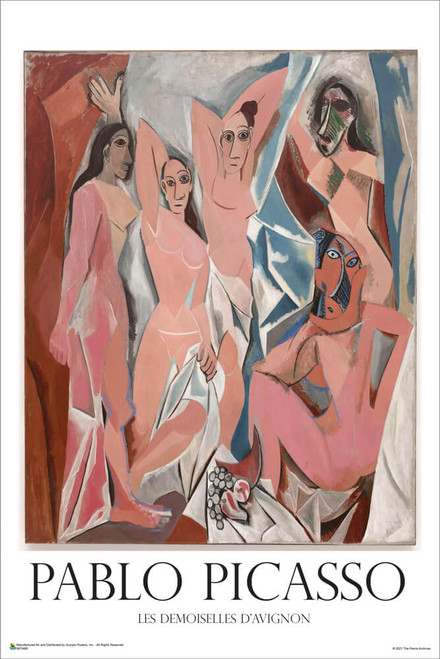 """Les Demoiselles d'Avignon by Pablo Picasso Mini Poster 12"""" x 18"""""""