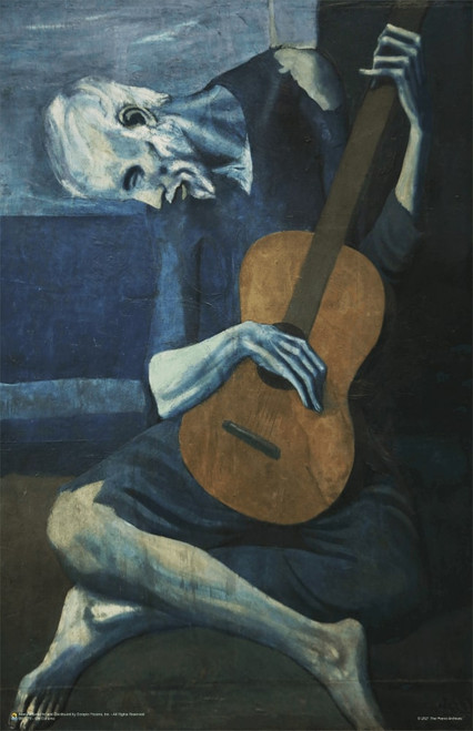 """Old Guitarist by Pablo Picasso Poster 11"""" x 17"""""""