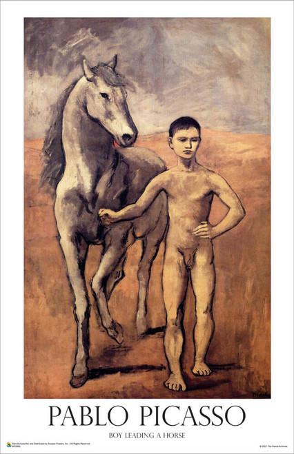 """Boy Leading a Horse by Pablo Picasso Mini Poster 11"""" x 17"""""""