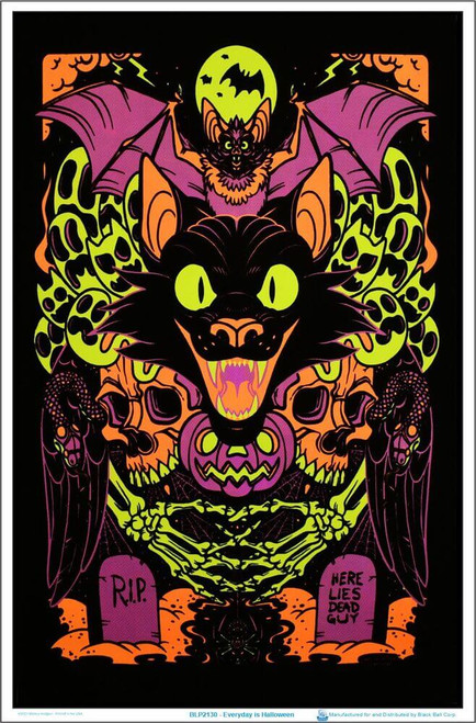 """Every Day Is Halloween Blacklight Poster 23"""" x 35"""""""