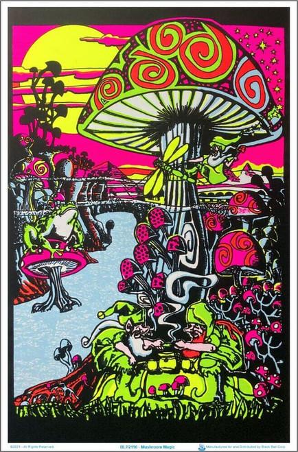 "Mushroom Magic Blacklight Poster 23"" x 35"""