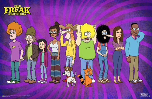 """The Freak Brothers - Main Cast Poster 17"""" x 11"""""""