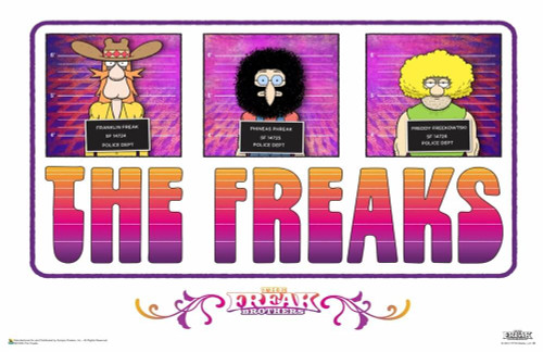 """The Freak Brothers - The Freaks Poster 17"""" x 11"""""""