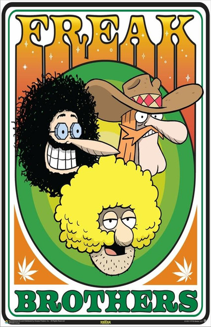 """The Freak Brothers - Group Poster 11"""" x 17"""""""