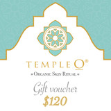 Temple O - organic ritual skin care gift voucher product shot