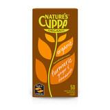Natures cuppa organic turmeric, ginger & cinnamon infusion tea bags 50 product shot