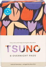 Natural bamboo pads - Overnight ( Winged & Ultra thin ) 8 pack product shot