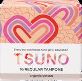 TSUNO Organic cotton Tampons Regular 16 pack product image