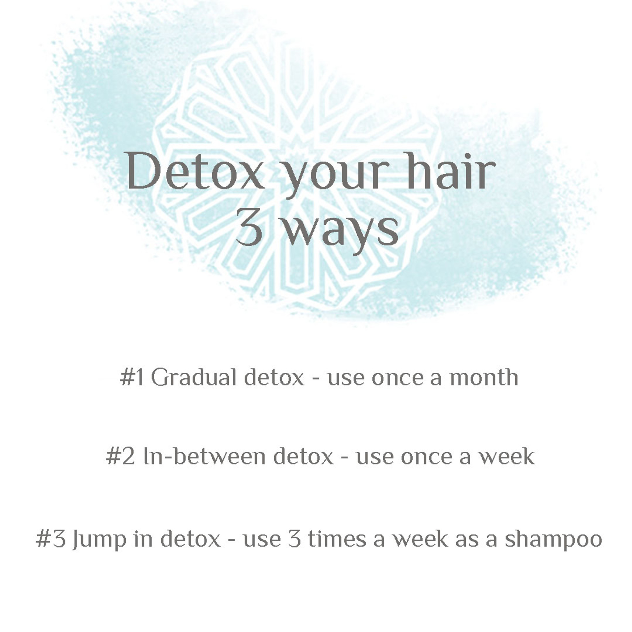 DETOX your hair with SHMUD cleanse & purify - 3 ways