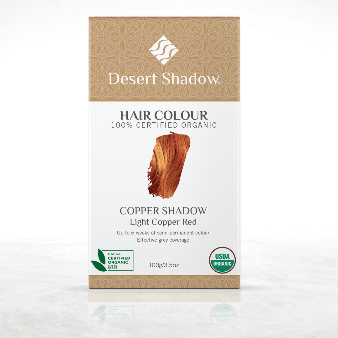Copper Shadow - Light copper red organic hair colour by Desert Shadow