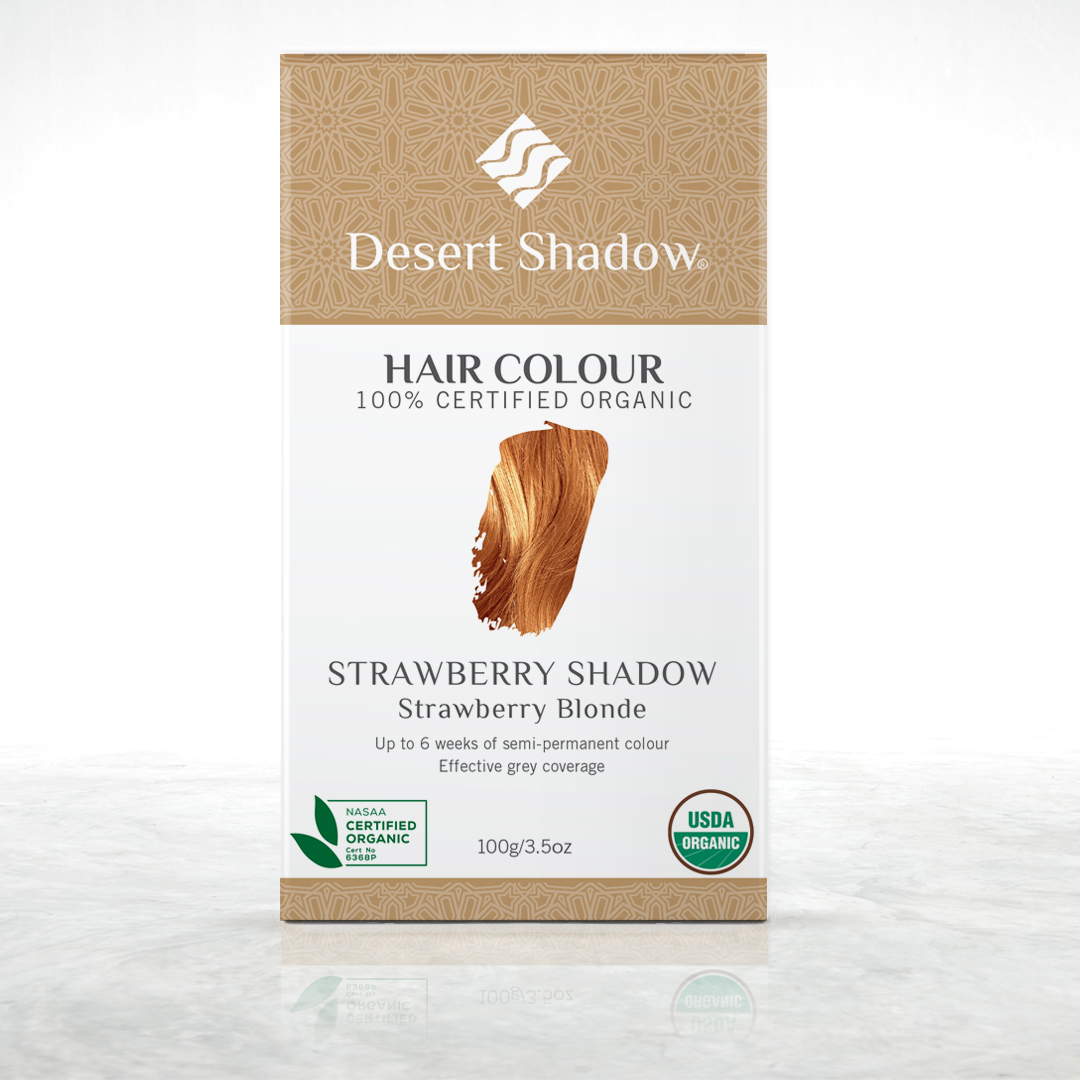 Strawberry Shadow - Strawberry blonde organic hair colour by Desert Shadow