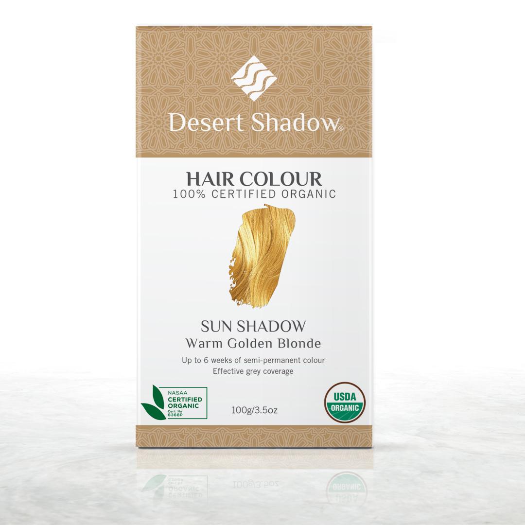 Sun Shadow - Warm golden blonde organic hair colour by Desert Shadow