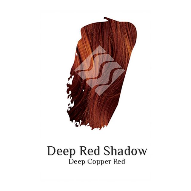 Deep Red Shadow deep copper red hair colour swatch sample