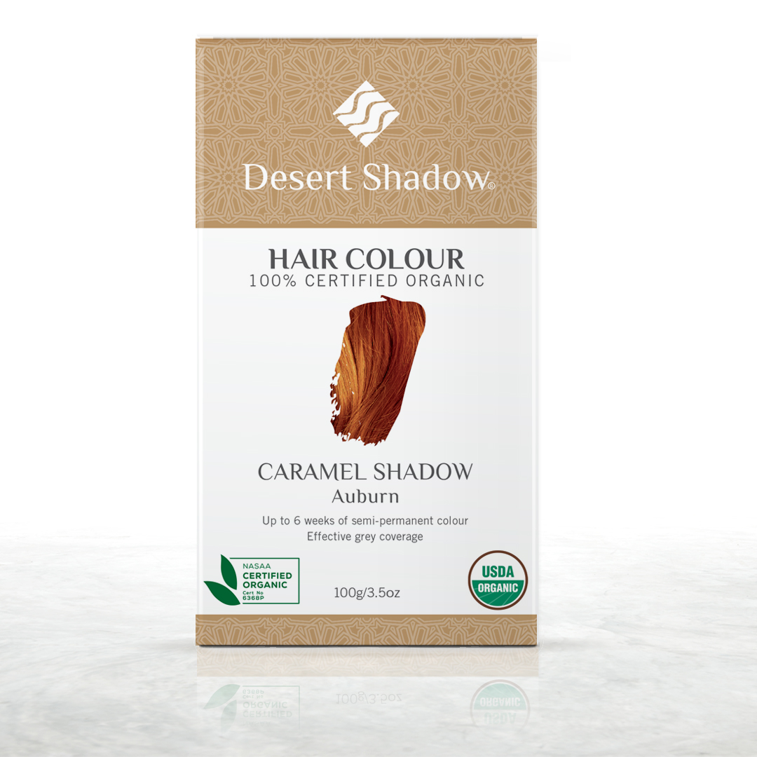Caramel Shadow - Auburn red organic hair colour by Desert Shadow
