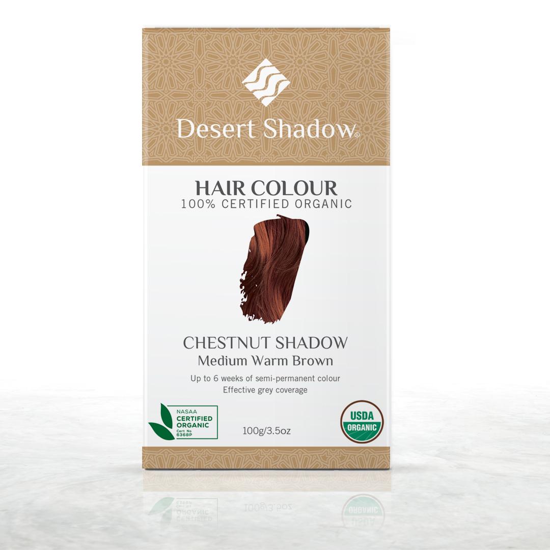Chestnut Shadow - Medium warm brown organic hair colour by Desert Shadow