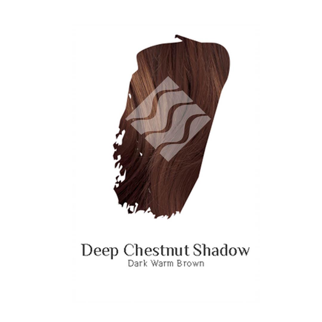 Deep Chestnut Shadow darkest brown hair colour swatch sample