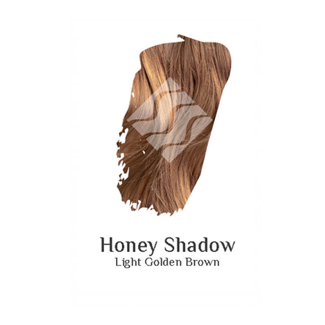 Honey Shadow light golden brown hair colour swatch sample