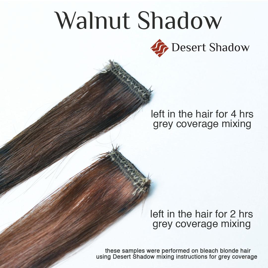 Walnut Shadow medium brown hair colour processing time comaprison