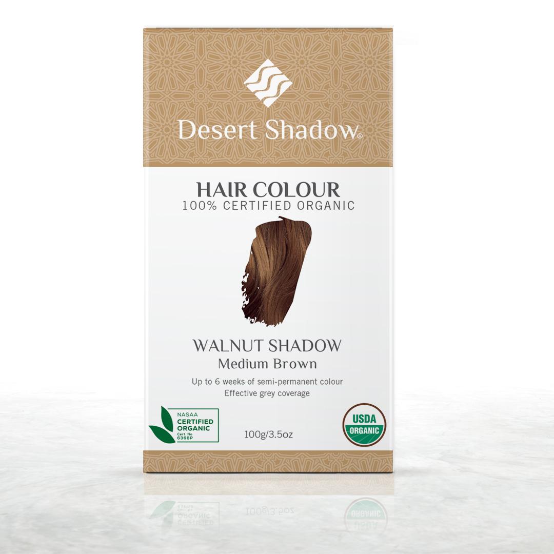 Walnut Shadow - Medium brown organic hair colour by Desert Shadow