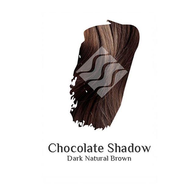 Chocolate Shadow dark natural brown hair colour swatch sample
